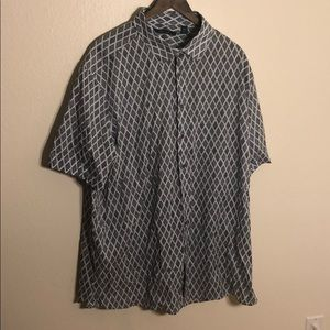 Perry Ellis Patterned Short Sleeve Button up